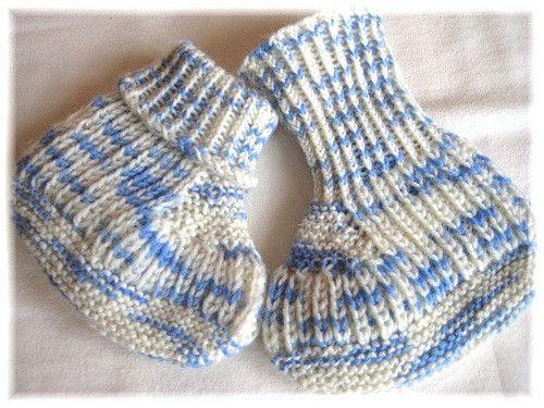 Ravelry: Blue Steps - Baby Booties pattern by Regina Willer