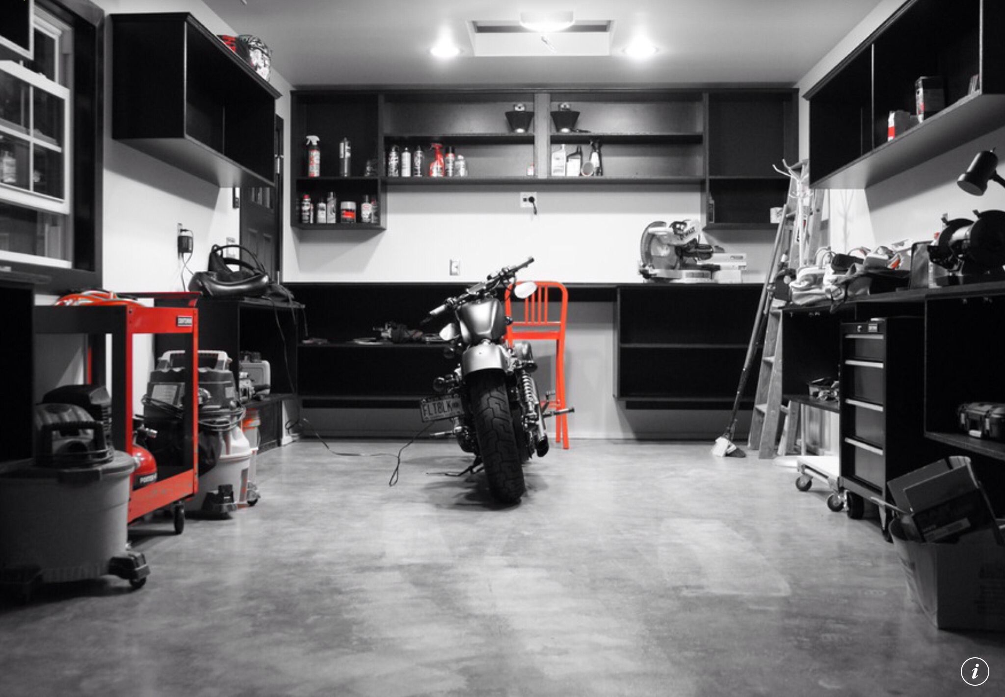 Garage Work Area Garage Interior Garage Design Motorcycle Garage