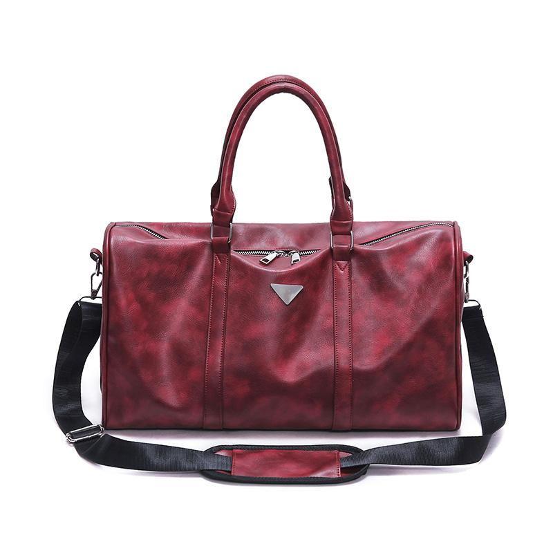 High Quality Men Leather Travel Duffle Gym Bag Sports Cossbody Men Bag  Durable PU Leather Gym 49bdf19eb9