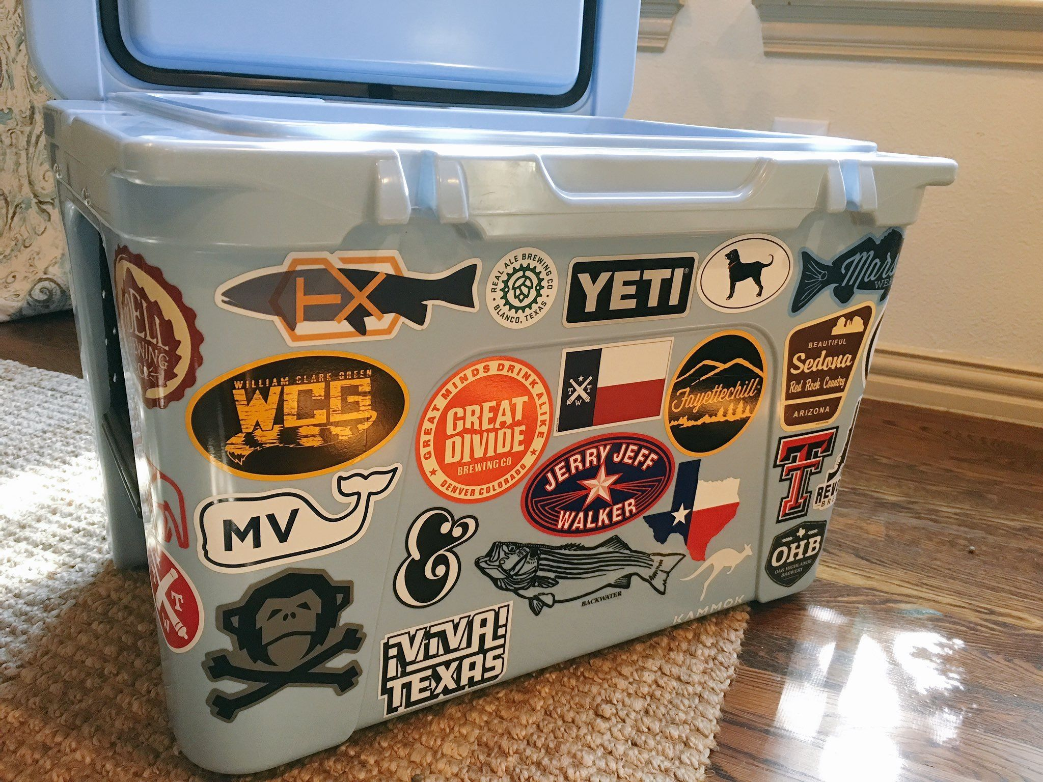 Yeti cooler with Texas stickers | Yeti Coolers in 2019