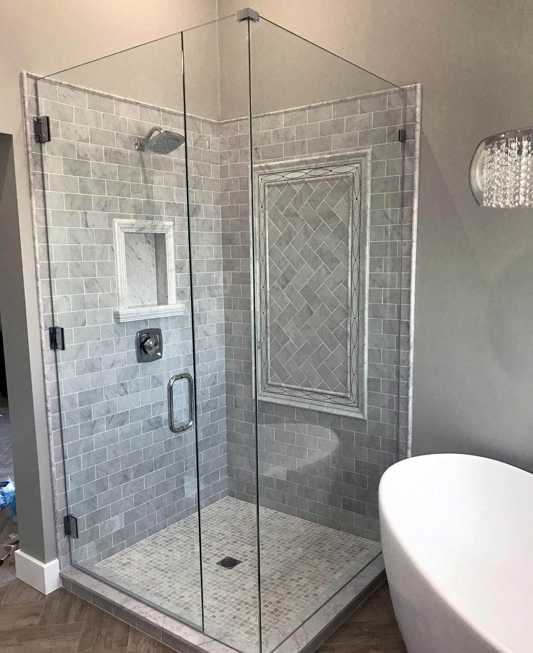 Good White Gray And Black Shower Tile Ideas Only In Indoneso Com Diy Bathroom Remodel Shower Tile Bathroom Remodel Shower