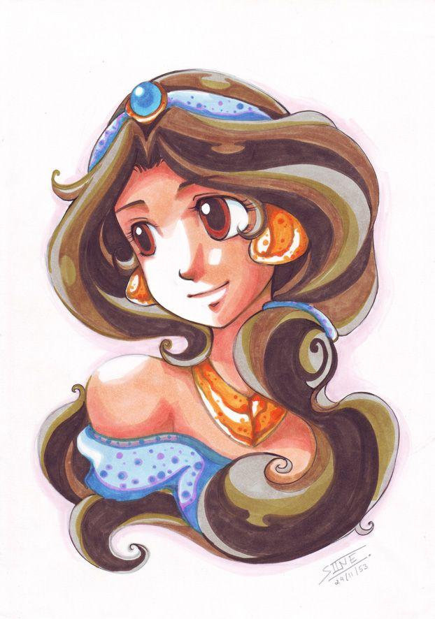 Jasmine by In-Sine.deviantart.com on @deviantART