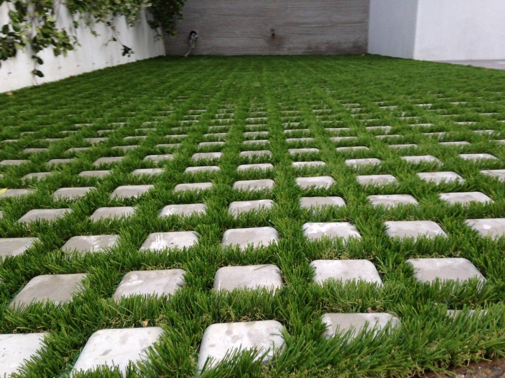 Drivable Grass Artificial Turf Grass pavers patio
