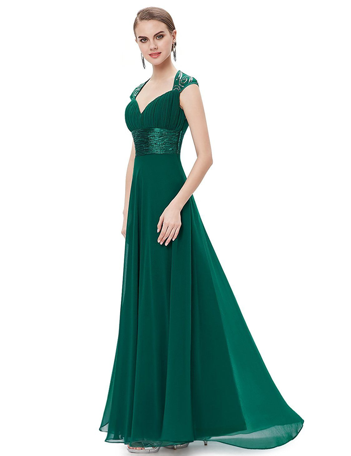 7ef828d8b45 Ever Pretty Chiffon Sexy V-neck Ruched Empire Line Evening Dress 09672