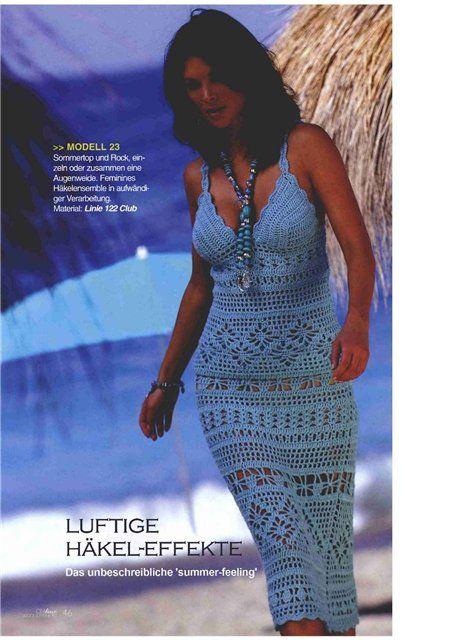 Photo of Golden crochet: Beautiful sundress !!!