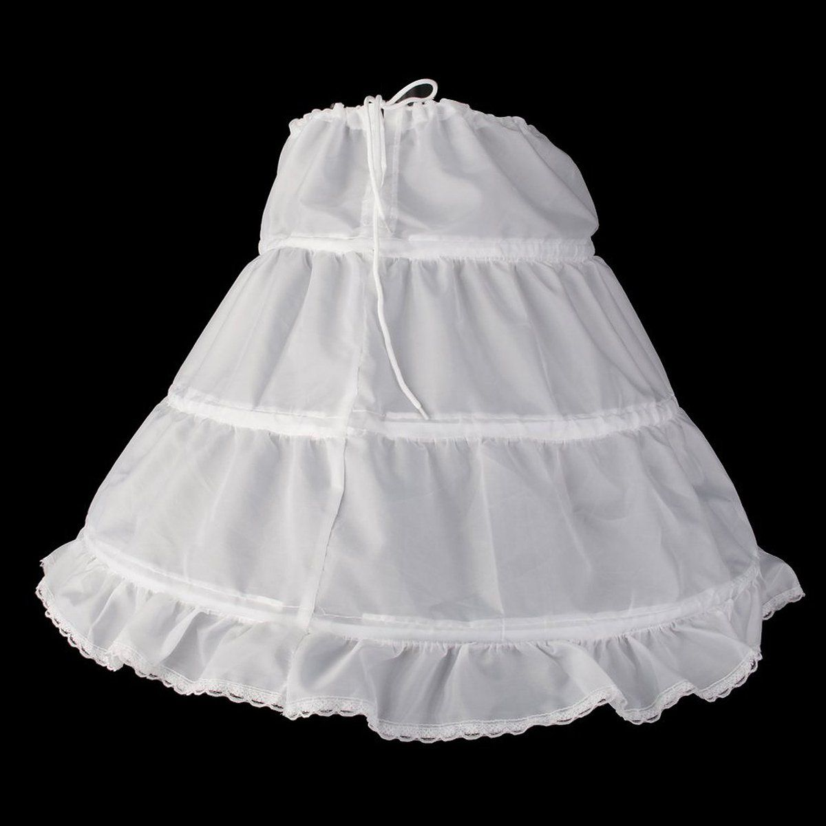 dbf7ef90c OULII Girls Petticoat Half Slip 3 Hoop Flower Girl Crinoline Petticoat  Skirt White One Size ** Find out more about the great product at the image  link.