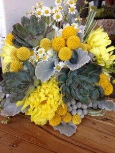 Billy ball & succulent bouquet by Fleur