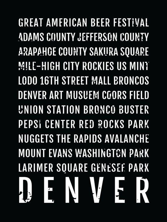 Denver Colorado Subway Map.Denver Print Denver Subway Sign Poster Colorado Wall Art Decor