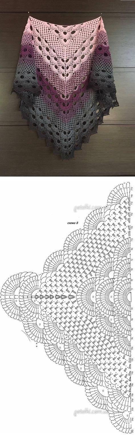 Crochet Beautiful Shawl (Sashay Yarn #crochetshawlpatterns
