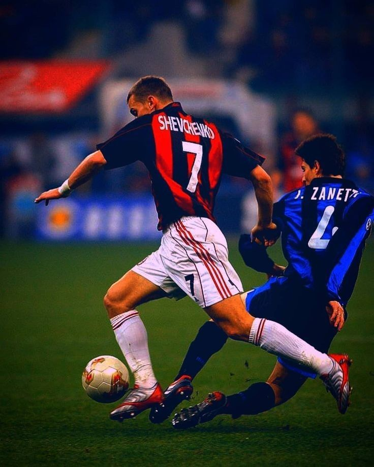 Shevchenko vs Zanetti Ac Milan vs Inter Milan | Foto di ...