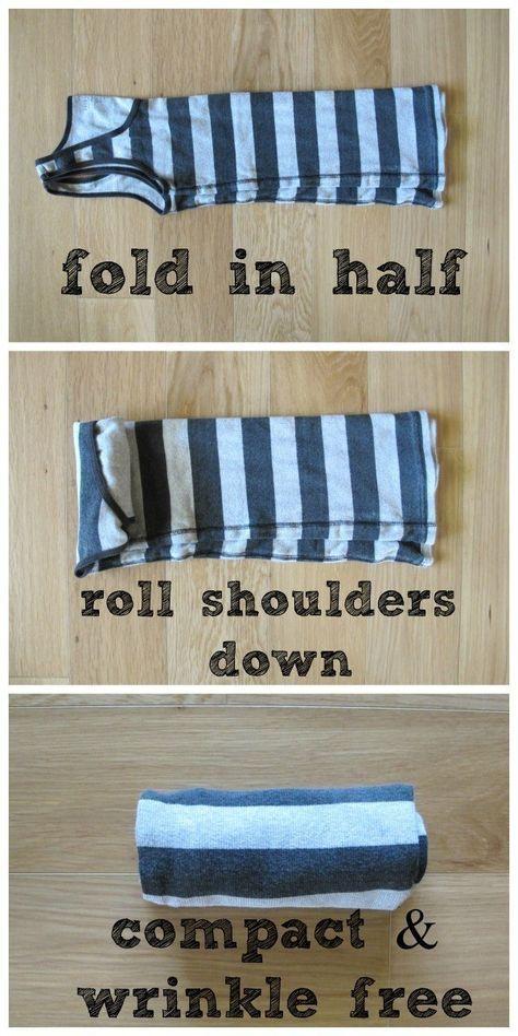 E enrole o resto de suas roupas para que tomem menos espaço.