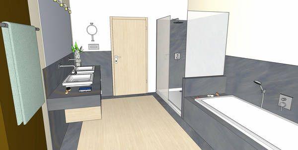 Badplanung planung b der badeinrichtung badgestaltung for Badezimmer ideen 9qm