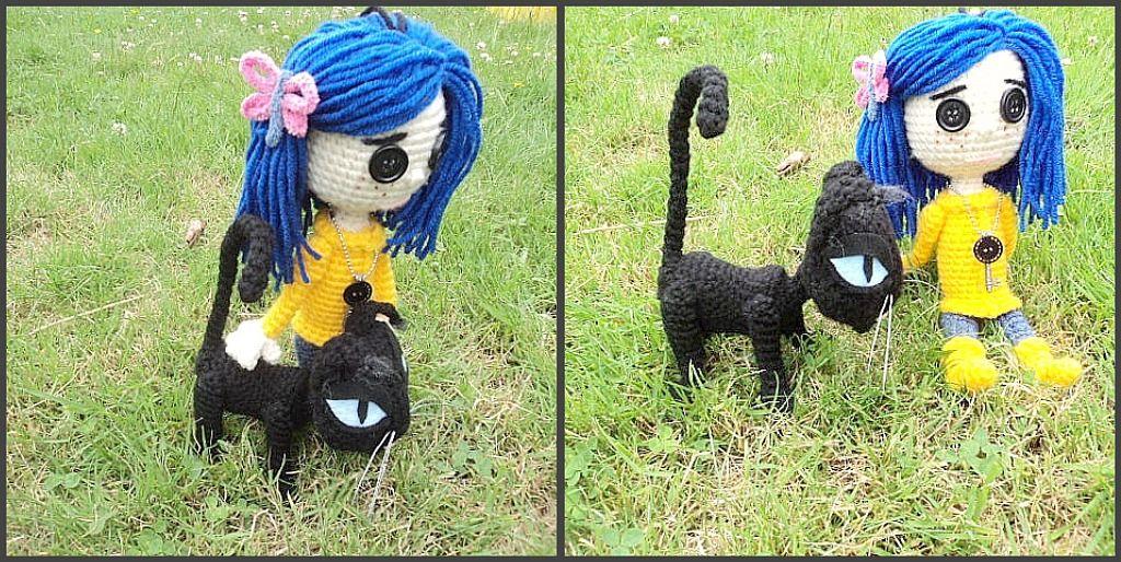 Amigurumi To Go Coraline : Amigurumi to go crochet coraline cat inspired by coraline plus