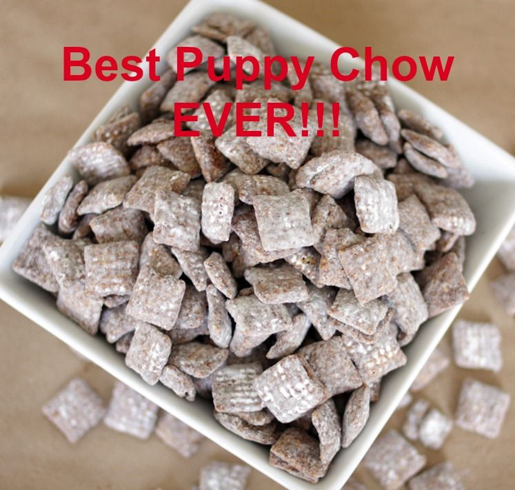 Puppy Chow Chex Mix! Crunchy Chex cereal covered in