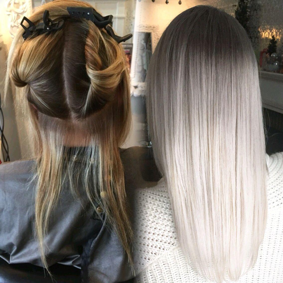 Fabelhaft Graue Haare färben: So funktioniert! | Hair in 2018 | Pinterest #LV_39