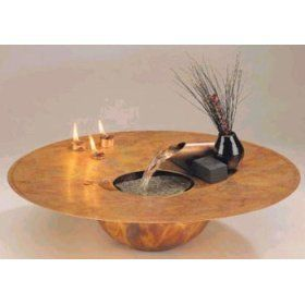 Water and Fire Indoor Water Fountain by Nayer Kazemi 701 * More home décor info could be found at the image url.