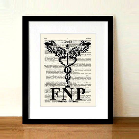 Vintage Family Nurse Practitioner Fnp Caduceus85 X 11