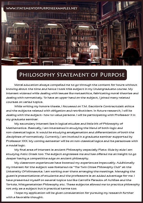 wwwstatementofpurposeexamplesnet philosophy-statement-of - sample statement of interest