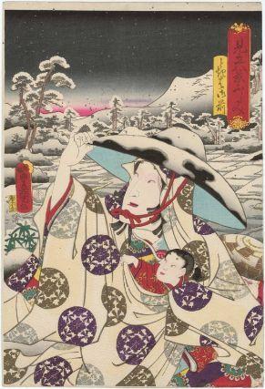 Fushimi: Tokiwa Gozen, from the series Representations of the Eigth Views (Mitate hakkei), Utagawa Kunisada