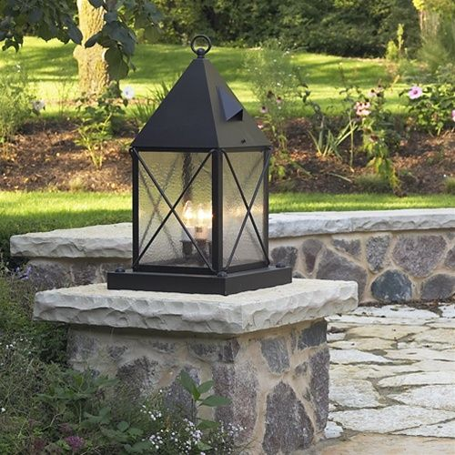 Pier Mount Exterior Lighting On Brick Columns Google Search Outdoor Post Lights Exterior Lighting Brick Columns