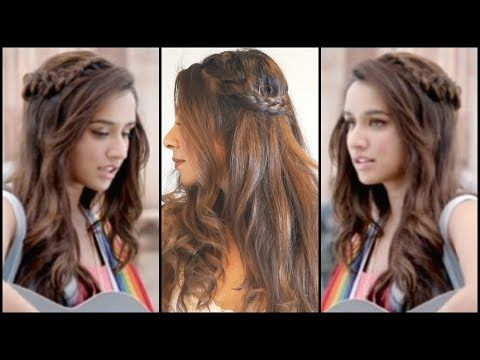 Braided Hairstyle Inspired By Shraddha Kapoor In Half Girlfriend Cute Easy Hairstyle Tutorial Hair Styles Wavy Hairstyles Tutorial Braided Hairstyles Easy