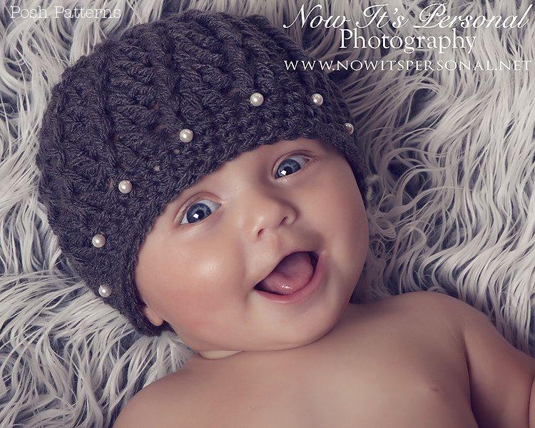 3df4aafbc7b Crochet Hat PATTERN Spiral Shell Rib Hat Beanie PDF 116 - Newborn to Adult -