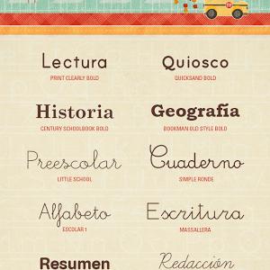 14 Fuentes Escolares Gratuitas Fuentes De Texto Fuentes Escolares