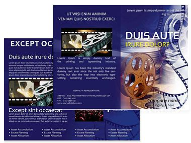 download film production brochures templates