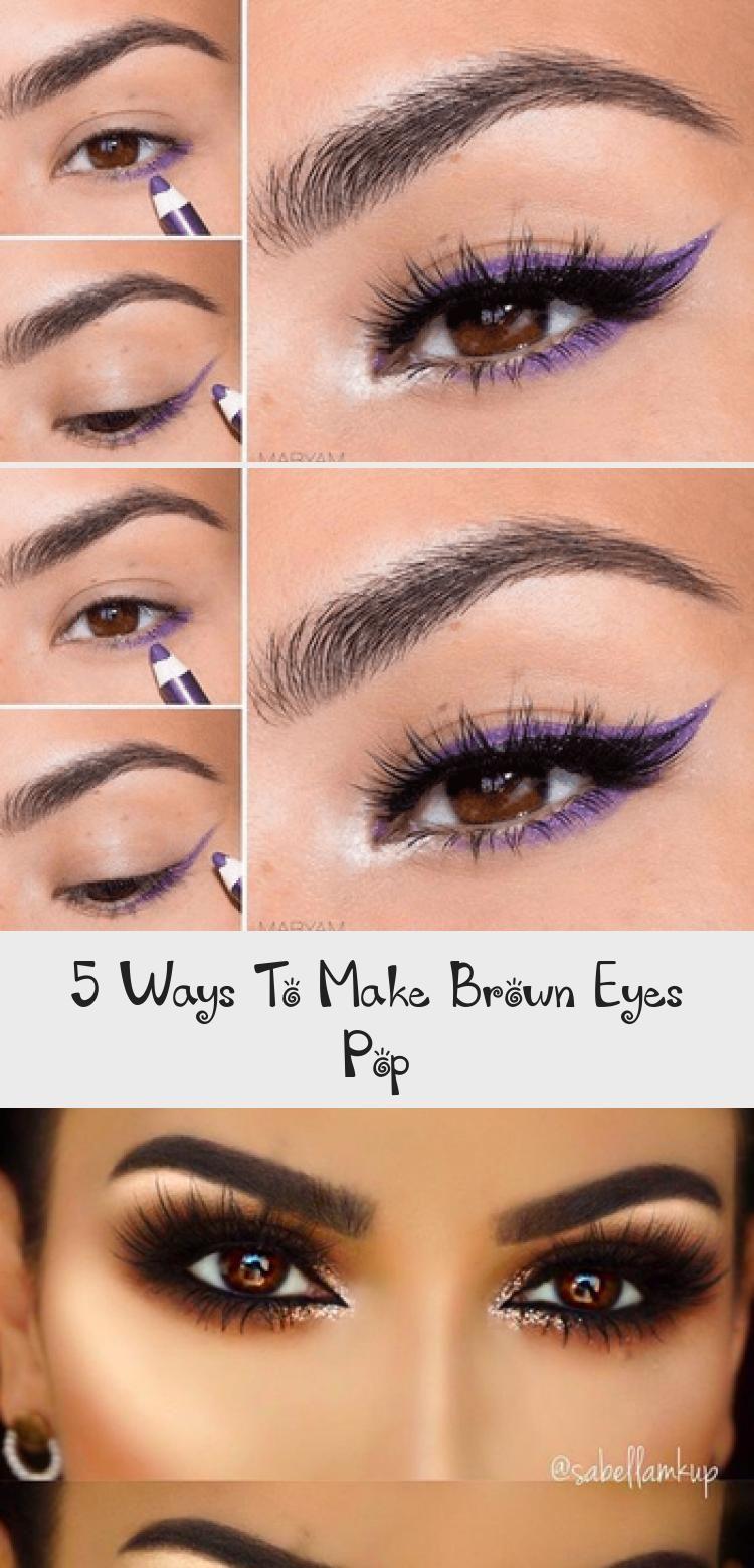 5 ways to make brown eyes pop makeup etk
