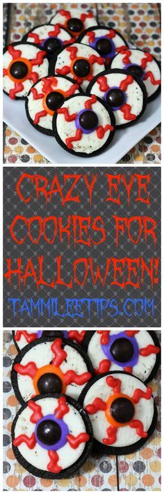 Crazy Eye Cookies perfect for Halloween! Crazy eyes, Halloween - cute easy halloween treat ideas