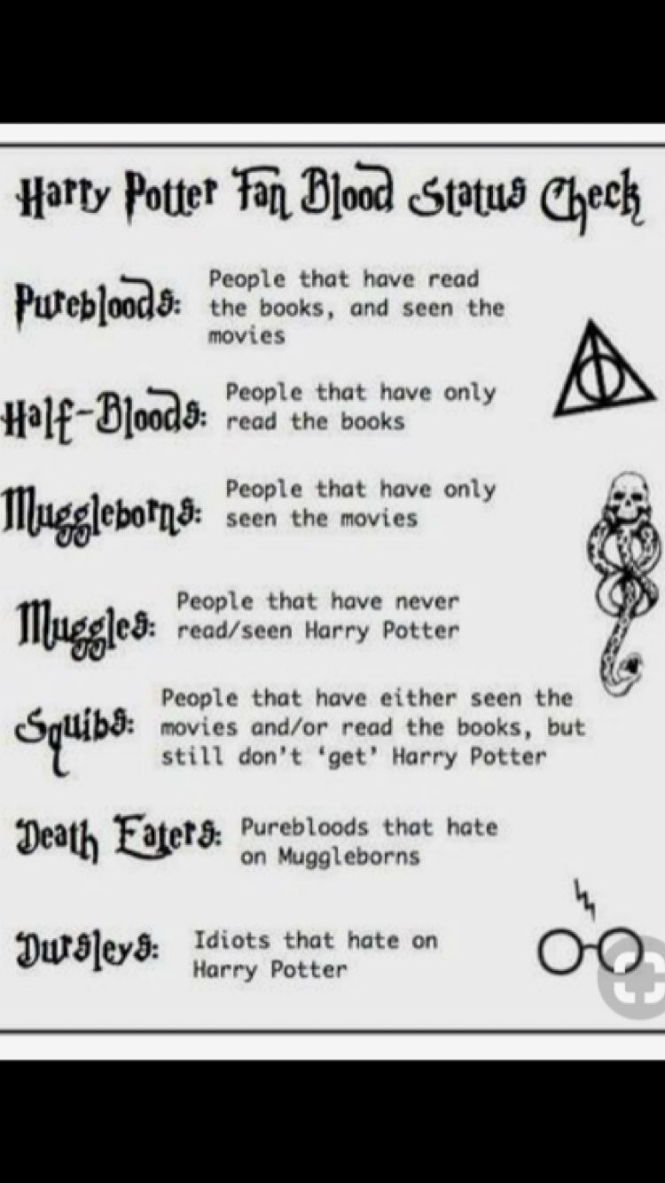 I M Totally A Pureblood No Doubt About It What Re You Comment Below What You Are I Ll Make A Surve Harry Potter Spells Harry Potter Puns Harry Potter Fan