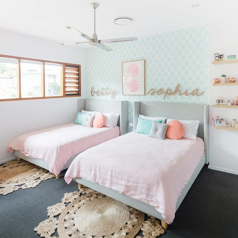 24 Fun And Cozy Twins Bedroom Ideas For Your Childrens Twin Girl