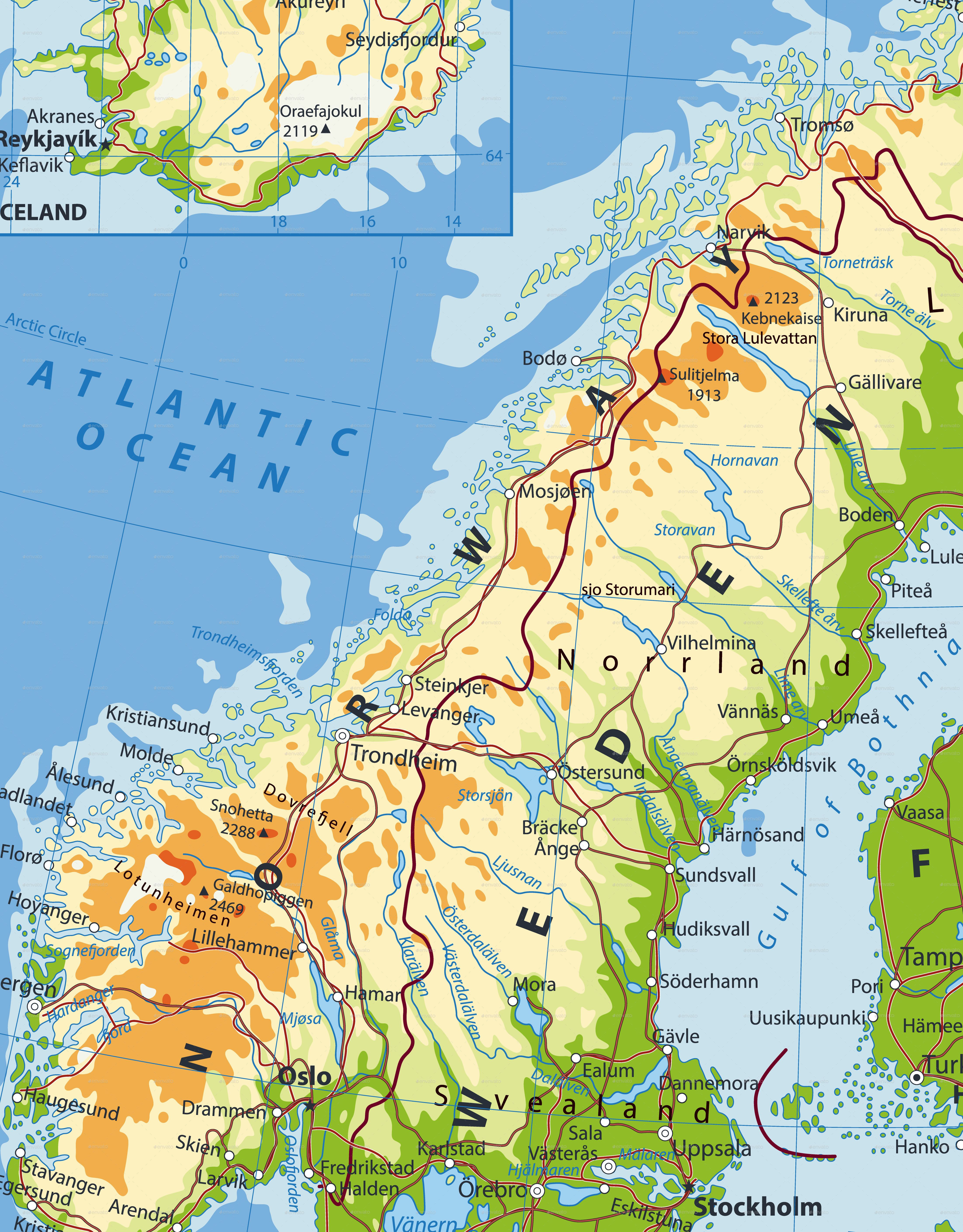 map of northern europe Northern Europe Physical Map | Physical map, Physics, Map
