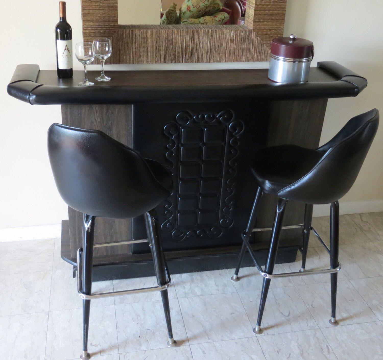 Reserved Mid Century Modern Retro Black Free Standing Bar