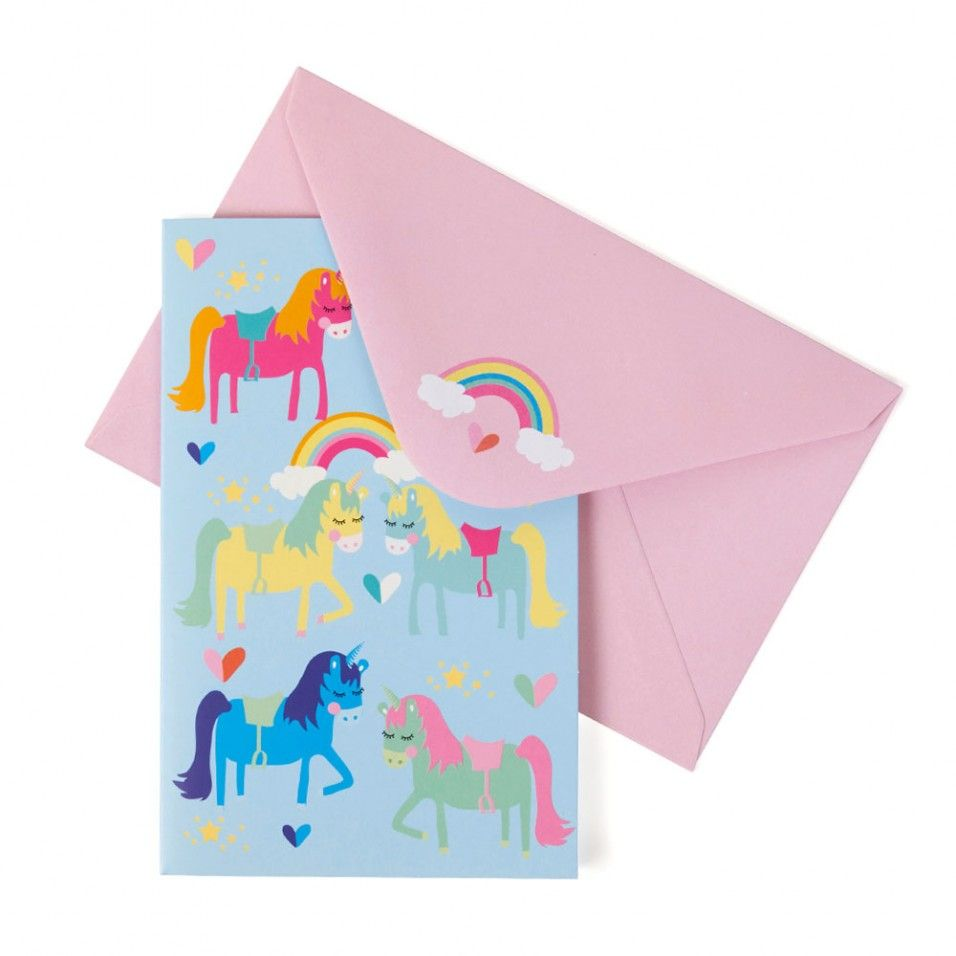 Unicorn notecards - box of 8