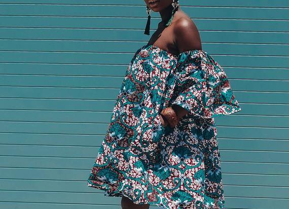 Ankara Dress African Clothing African Dress African Print Dress African Fashion Women's Clothing African Fabric Short Dress Summer Dress #africanprintdresses