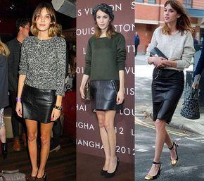 822d4274e Cómo llevar una falda negra de cuero en 2019 | tendencia | Dress ...