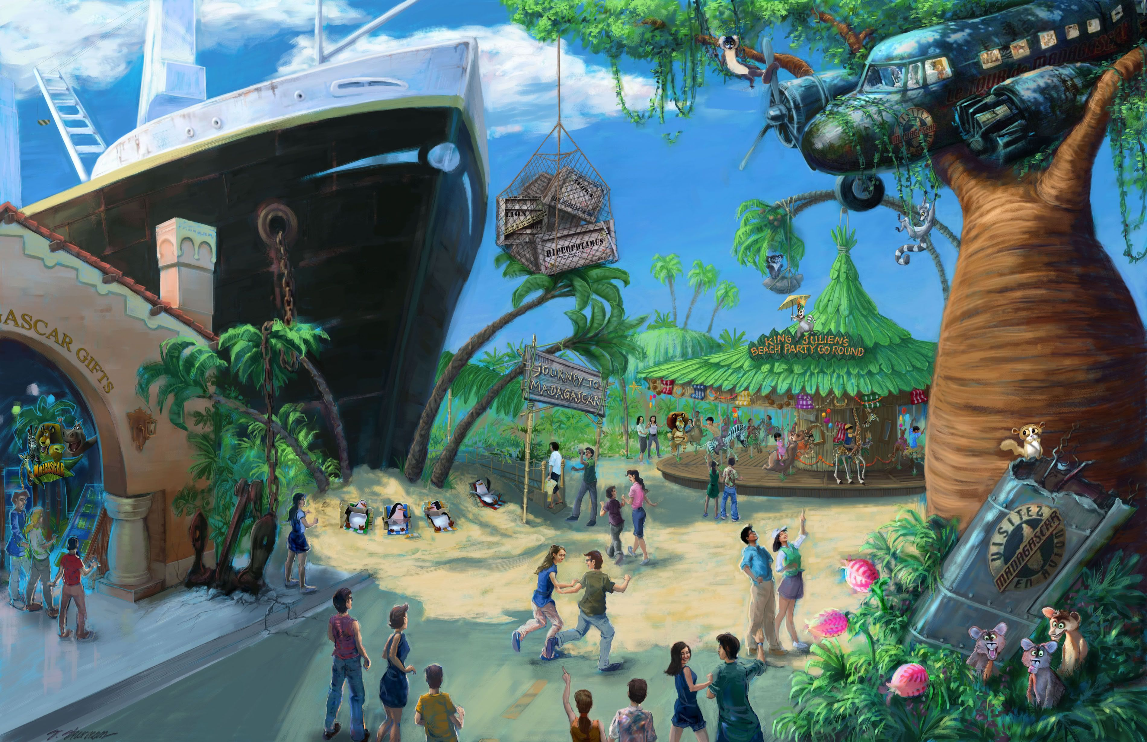 Madagascar, Universal Studios Singapore Universal