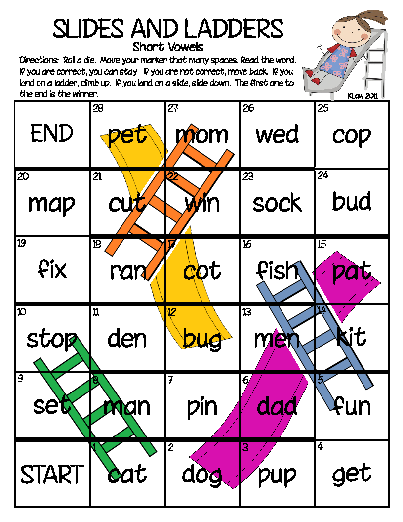 chutes and ladders word game