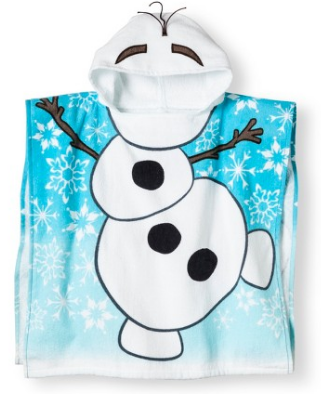 frozen themed bath towel