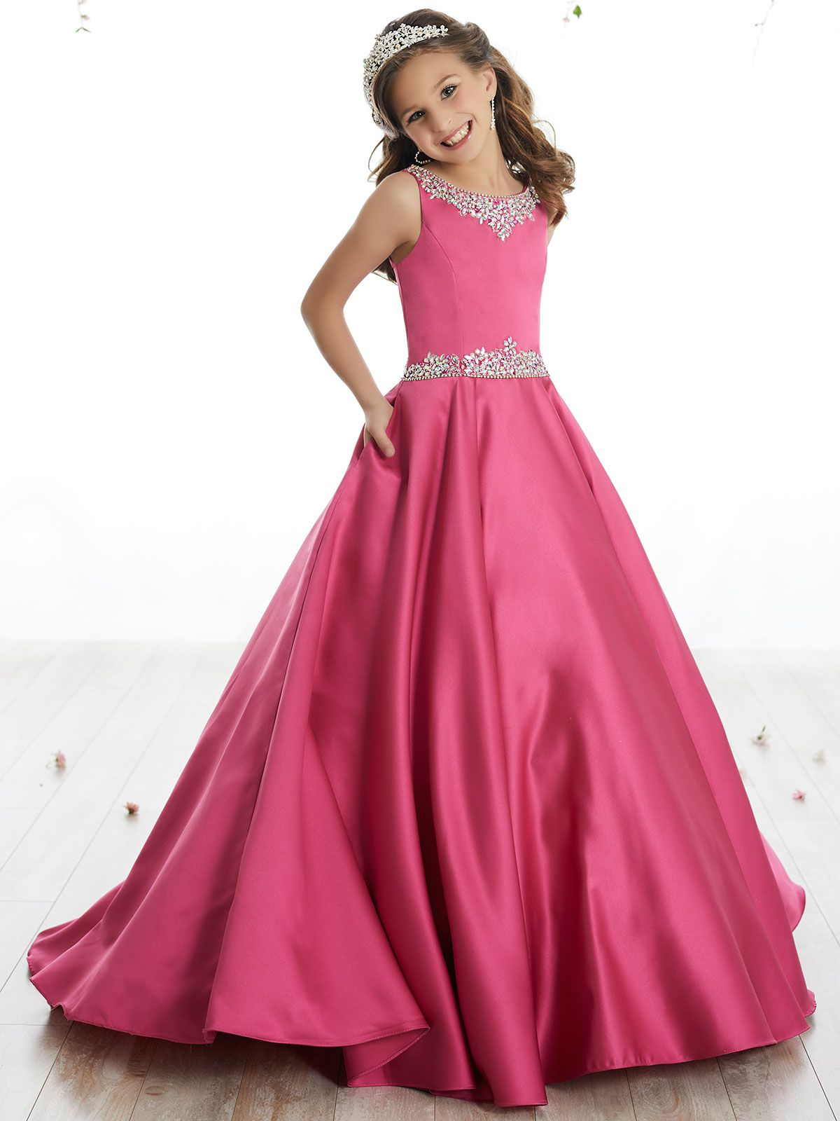 Tiffany Princes 13506 Scoop Neckline Pageant Dress | Pinterest ...
