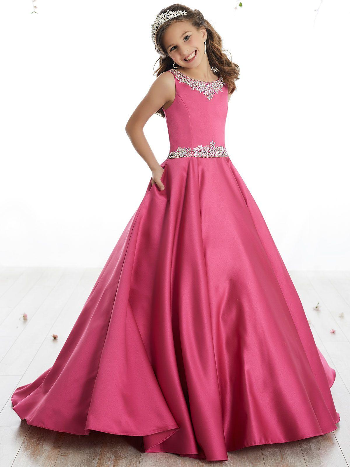 Tiffany Princes 13506 Scoop Neckline Pageant Dress | vestidinho de ...