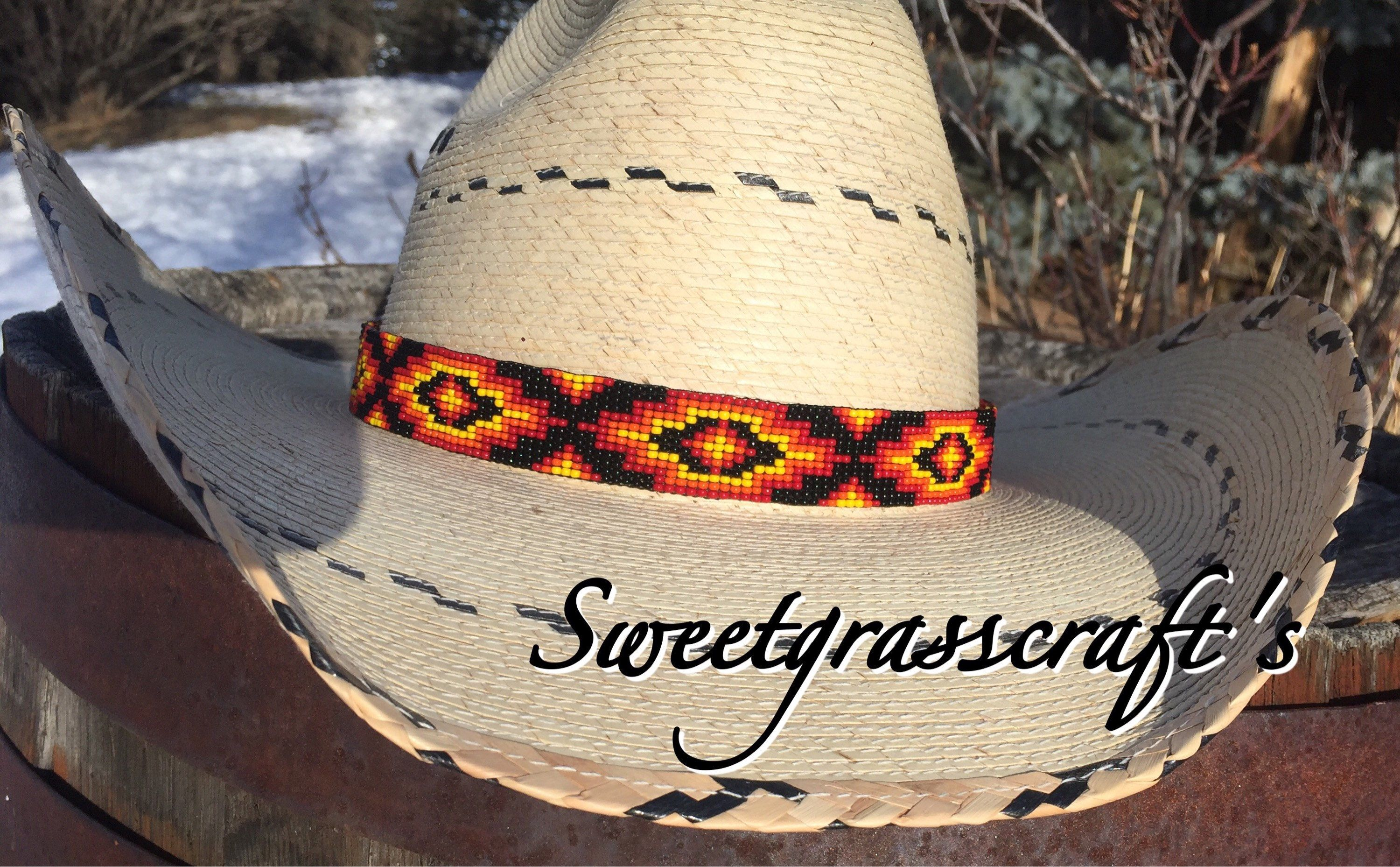 61b8429ab98 Beaded Cowboy hatband Sweetgrasscrafts.com A favorite Etsy shop https   www.