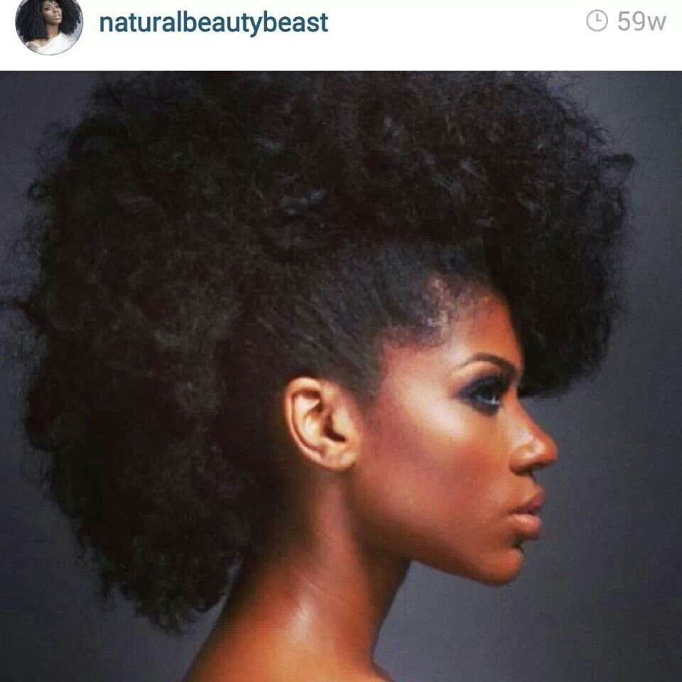 Natural faux hawk celebration of natural hair pinterest faux