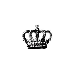 Mini Royal Crown Rubber Stamp By Terbearco On Etsy