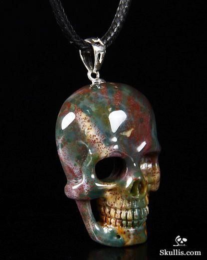 Bloodstone crystal skull pendant clothes pinterest crystal bloodstone crystal skull pendant mozeypictures Images