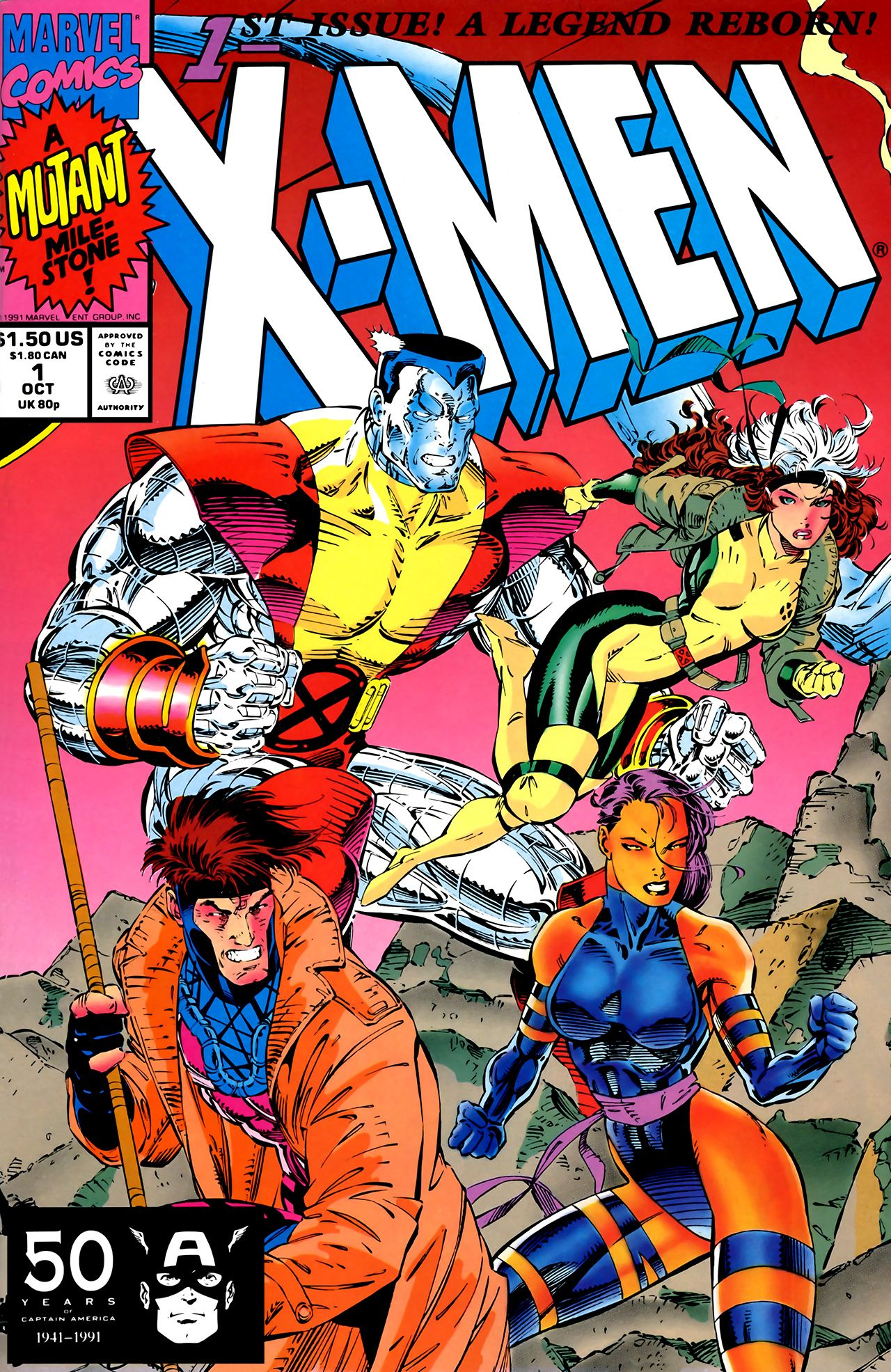 X-Men #1B By Jim Lee (all Of My Favorite X-Men Of The Time