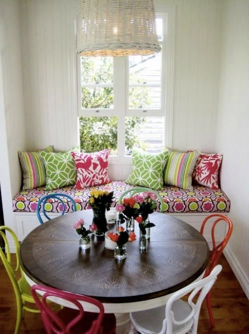 Colourful cosy nook