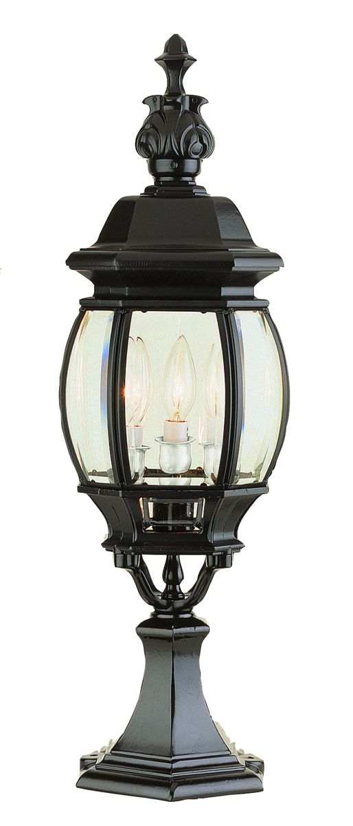 Trans globe lighting 4071 ville frenche 3 light 23 inch outdoor trans globe lighting 4071 ville frenche 3 light 23 inch outdoor pier mount post mozeypictures Image collections