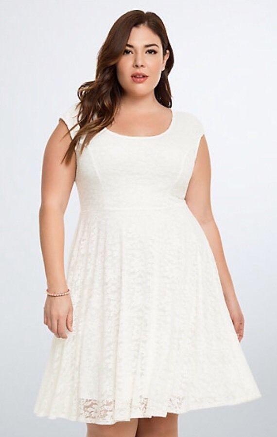 Torrid White Floral Lace Open Back Skater Fit Flare Dress Sz 2 2x Ebay Cheap White Dress Plus Size Dresses Dresses